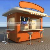 Durable structure using street food kiosk design, fast food carts kiosk, mobile coffee kiosk