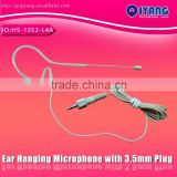 HOT!!HS-13S2-L4A skin color mini single ear hanging headset condenser microphone with 3.5mm connector