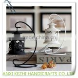 Classical Hollow Out Wrought Iron Candlestick Furnishing Articles Wedding Gift Candle Holder