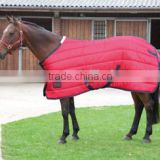 Padded winter equestrian rug for horse riding