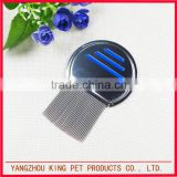 Popular kids and pet stainless steel factory sale lice comb for head