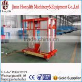 (10 m)three mast hydraulic aluminum alloy man lift platform table hydraulic work platforms