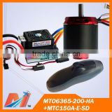 Maytech Promotion Combo Pack for 6365 Hall Sensor Motor and Remote Control and 150A Speed Controller