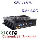 Fanless mini computer station pc 32bit Color Depth thin client XCY X26-1037G support all kinds of HD movies
