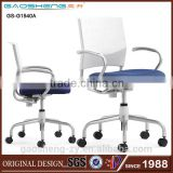 Simple Swivel Training Chair With Stitching Color Plastic Back Office Chair With Armrest GS-G1540A