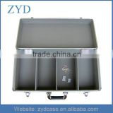Silver Aluminum CD box With Large Capacity Light Weight CD Jewel Case ZYD-CD82007