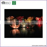 Colorful Biodegradable Chinese Floating Lotus Water Lantern Manufacturer                                                                         Quality Choice