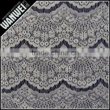 5/1 machine maded piece eyelash plain yarn lace fabric and textile in 100% nylon fabric material for wedding dress Changle 4026