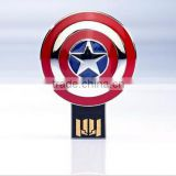 Wholesale Marvel Superhero Captain American Shield USB Flash Disk, memory card, storage card
