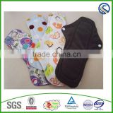 for lady bamboo cloth menstrual pads reusable sanitary napkin manufacturer factory