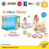Hot sale good quality battery operated toy horse music and lights for kids