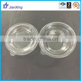 transparent wholesale plastic containers salad bowl with lid, transparent plastic microwave bowl with lid