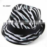 WL-HD057 ZEBRA PRINTED COTTON CANVAS SUN VISOR HAT, BABY HAT