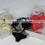New arrival silk tiny bikini underwear company promotional gifts lavender/rose scents fabric sachet