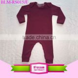 Wholesale organic cotton baby rompers wholesale infant clothes boys jumpsuit lovely baby clothing