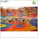 Creative colorful nylon rope hand-knitted kids play park games                                                                         Quality Choice