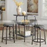 Triumph hotel room small tea table set/simple design metal coffee table/side table stainless steel