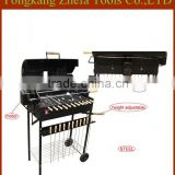 Trolley Rotating BBQ Grill with stainless steel skewers Barrel Barbecue grill