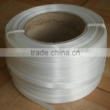 Polyester yarn strapping band alternative to steel strap