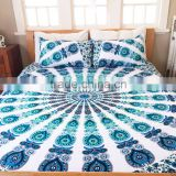 Screen printed large size mandala duvet cover quilt cover duvet cover sets with pillows bedding sets hotel duvet cover coverlet