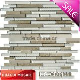 HONED JURA BEIGE LIMESTONE BLEND LINEAR GLASS -LIDO HG-CDT405