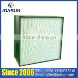 Galvanized steel frame Deep-pleat Box HEPA Air Filter