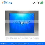 Panel Mount 15inch industrial touch screen panel pc with wide operational temperature range