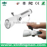 Solar flashlight with radio & Emergency flashlight with Siren & Crank dynamo flashlight