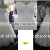 hot sale and fashion stylish Wedding dress 2011 crystal