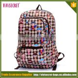 Directly factory sales brand name top designer girls new school backpack for middle school student