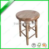Nature color totally bamboo rotating bar stools