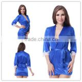 Paypal accept blue sleeping dress sexy sleepwear photos