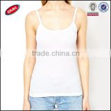 100 pure cotton bulk wholesale ladies low cut plain white tank top
