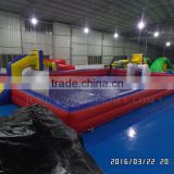 Trade Assurance Soap Inflatable Football Field outdoor,Inflatable water soccer pitch/Soap basketball field sale