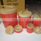 Cylinder - shaped bamboo box, multicolor- bamboo, lacquer storage box, cheap price from Vietnam wholesale