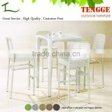 Aluminum bar chair with PE rattan seating bar stool high chair in outdoor