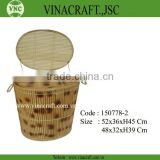 Bamboo storage box bin basket suitable for public