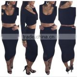 Fancy 2014 Hot Selling eveing novelty High Waisted Cropped 2 Piece bandage Bodycon Dress