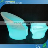 High quality plastic led sofa furniture for indoor outdoor decoration GKS-108BT