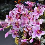 artificial silk cymbidium orchid from foshan china artificial flower supplier hanging flower wedding