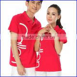 wholesale china factory 180 gsm printed couple 100% polo t shirt