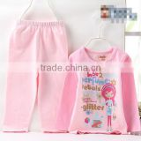 2017 Spring Kids gift sets baby girls pajamas cheap price girls and boys sleepwear for sale with pants