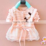 Spring Autumn New Fashion Lace Baby Girls Knitting Dress Infants Lace Floral Dresses Cardigan SV012247 #