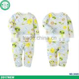 High quality OEM Service cute printing cotton kids wear long sleeve children clothing set