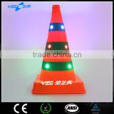 Colorful LED USB rechargeable traffic cone for emergency