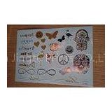Special Bracelets personalized temporary tattoos / flash tattoos metallic