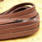 5x1.5mm Brown Faux Suede Cord Lace Flat Leather Cord For Bracelet & Necklace DIY Jewery Accessory