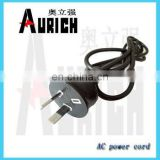 Australian retractable extension cord brass prower plug 2 pin power cable xbox 360 power cord elite