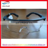 Plastic safety glasses en166/Protective Eyewear Clear Anti-Fog Lens, Black Frame 20 EA/Case