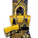 2017 woman handbag african wax bag set cotton ankara prints fabric fatory price for women party dresses 6yard/lot